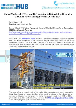 HVAC and Refrigeration Market Report 2024
