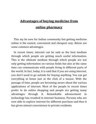 Online medicines store in Delhi- Indian Online Pharmacy