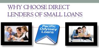 Why Choose Direct Lenders of Small Loans