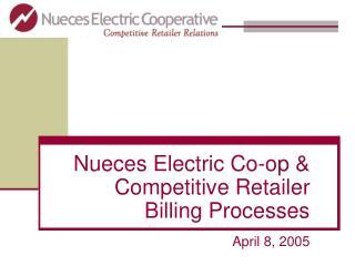 Nueces Electric Co-op  Competitive Retailer  Billing Processes