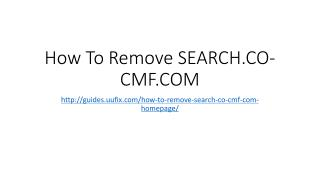 How to Remove Search.co-cmf.com
