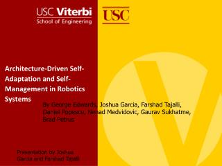 Architecture-Driven Self-Adaptation and Self-Management in Robotics Systems