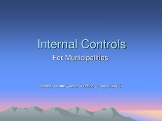 Internal Controls