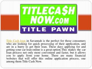 Affordable vehicle Auto Loan Services | Title Cash Now