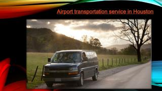 Private airport transportation in houston