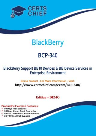 BCP-340 Test Questions and Answers