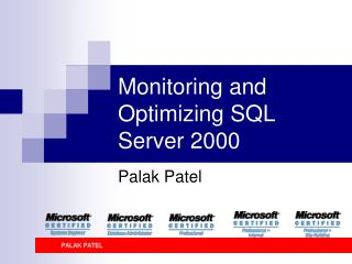 Monitoring and Optimizing SQL Server 2000