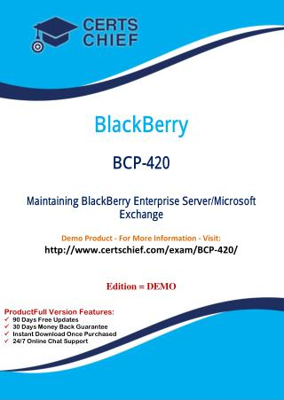 BCP-420 Test Questions and Answers