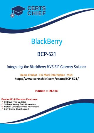BCP-521 Test Questions and Answers