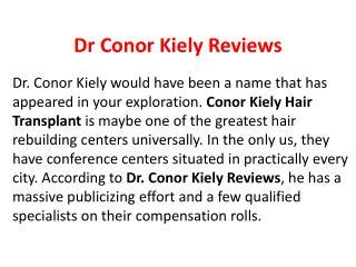 Dr Conor kiely Reviews,Conor kiely Hairtransplant,Conor kiely,Dr Conor Kiely