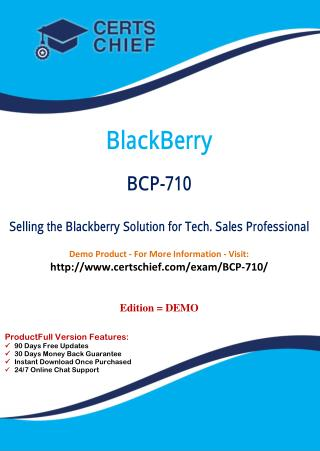 BCP-710 Test Questions and Answers