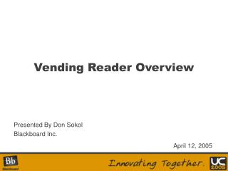 Vending Reader Overview