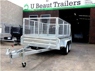 Ubeaut Trailers 10×6 Tandem Tipper with 1000mm Cage 2000kg ATM