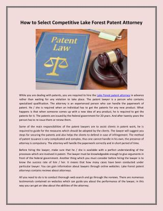 Oak Brook Patent Attorneys