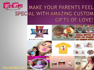 Make Your Parents Feel Special With Amazing Custom Gifts Of Love!