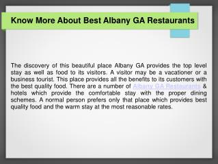 Top Rated Albany GA Restaurants