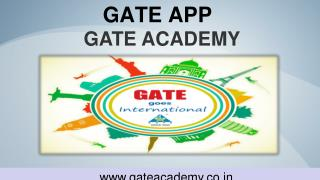 GATE Exam Preparation