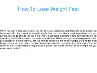 Losing Weight With Natural Remedies