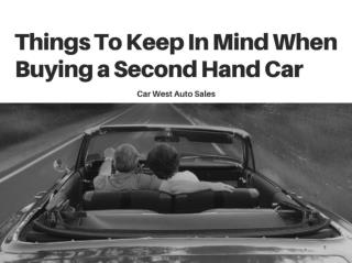 Main Things to Keep in Mind Before Buying a Car