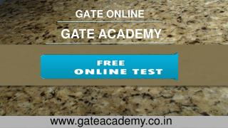 Gate Online Test Series