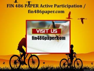 FIN 486 PAPER Active Participation/fin486paper.com