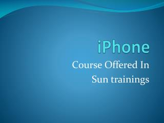 iphone online training-course content