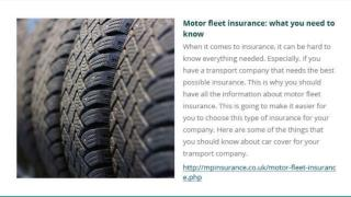 Company Car Fleet Insurance