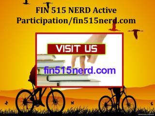 FIN 515 NERD Active Participation/fin515nerd.com