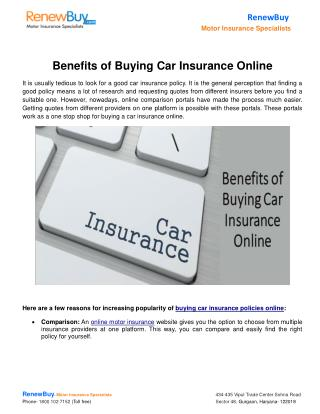 Benefits of Buying Car Insurance Online