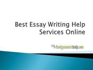 Best Essay Writing Help Services Online