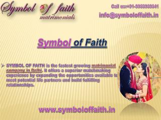 SymbolofFaith is the Best Marriage Bureau in Delhi