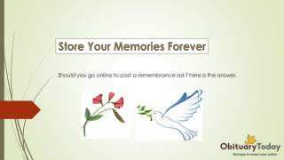 Book Your Obituary and Remembrance Ads