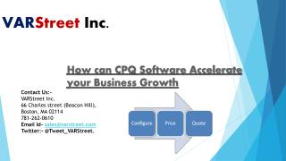How can CPQ Software Accelerate your Business Growth