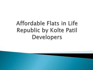 2 BHK Apartments in Hinjewadi at Life Republic