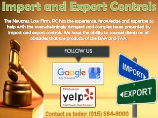 Import and Export Controls