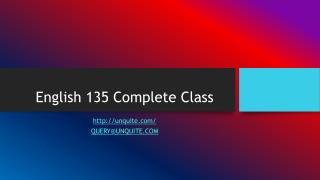 English 135 Complete Class