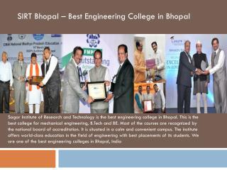 Best Engineering College in Bhopal - SIRT
