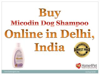 Buy Micodin Dog Shampoo Online, Delhi, India