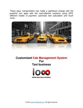 Infinite Cab Management System Documentation