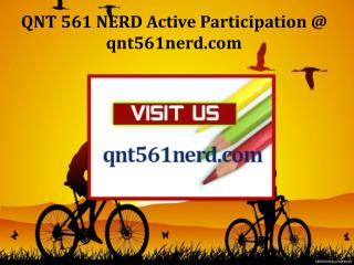 QNT 561 NERD Active Participation / qnt561nerd.com