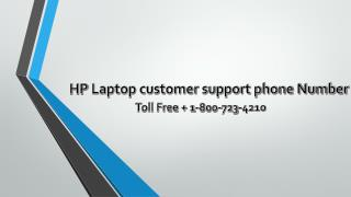 HP Laptop customer support phone Number 1-800-723-4210