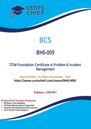 BH0-009 Certification Practice Test