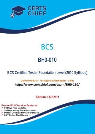 BH0-110 Certification Practice Test