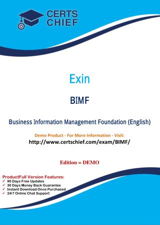 BIMF Certification Practice Test
