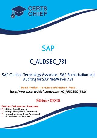 C_AUDSEC_731 Certification Practice Test