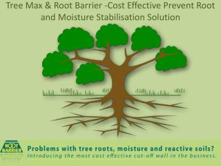 Tree Max & Root Barrier -Cost Effective Prevent Root and Moisture Stabilisation Solution