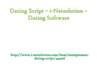 Dating Software - i-Netsolution - Dating Script