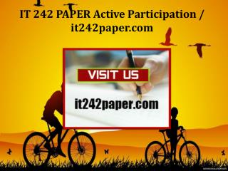 IT 242 PAPER Active Participation/it242paper.com