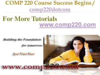 COMP 220 Course Success Begins / comp220dotcom