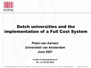 Dutch universities and the implementation of a Full Cost System